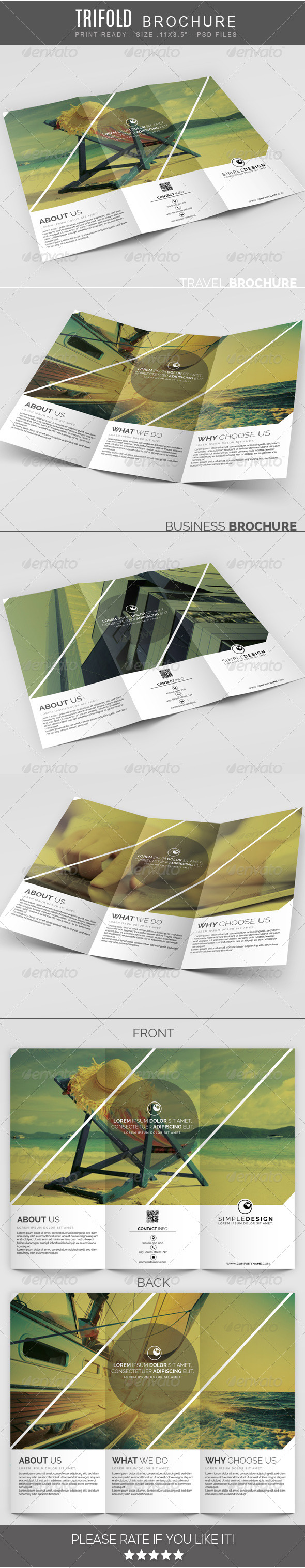 GraphicRiver Travel multipurpose Trifold Brochure 7655084