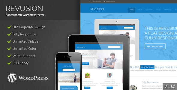Revusion - Flat Corporate Wordpress Theme - Corporate WordPress