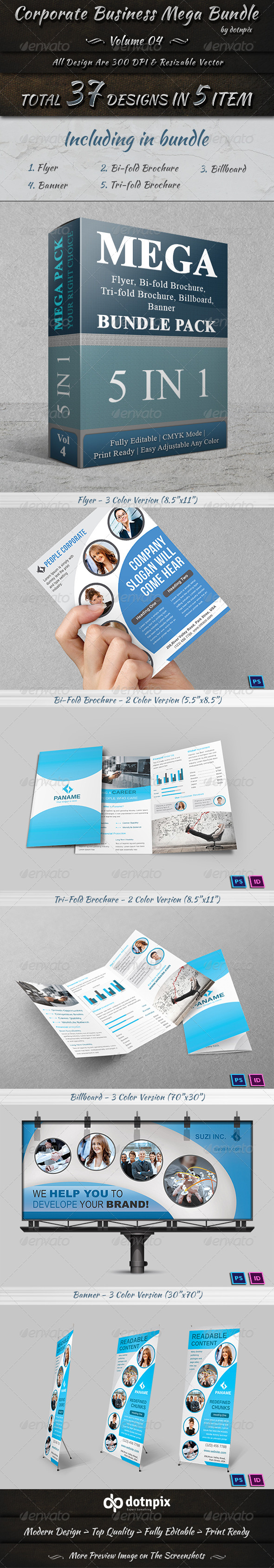 GraphicRiver Corporate Business Mega Bundle Volume 4 7688554