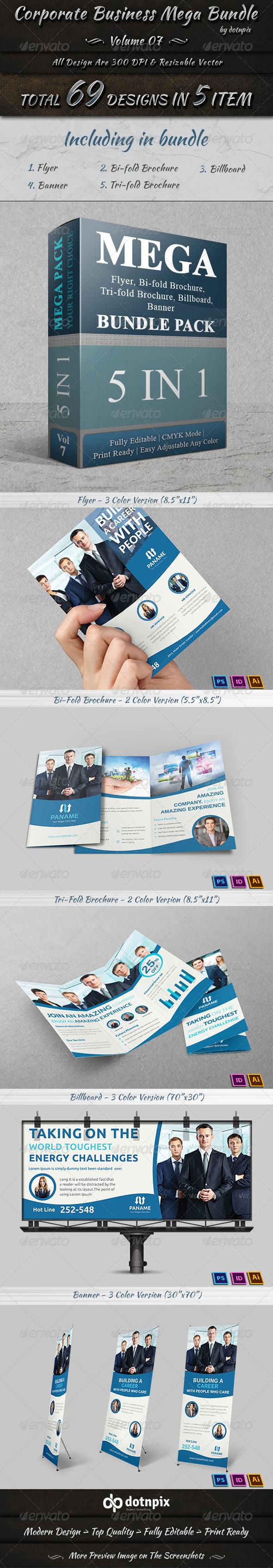 GraphicRiver Corporate Business Mega Bundle Volume 7 7688640