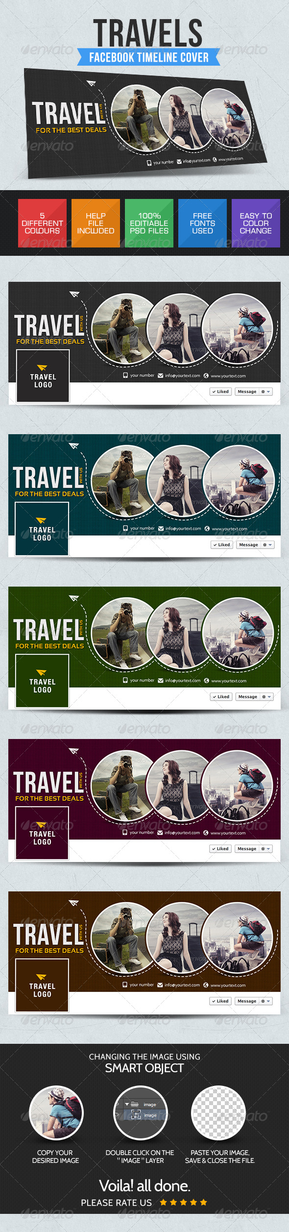 GraphicRiver Travel Facebook Cover 7688680