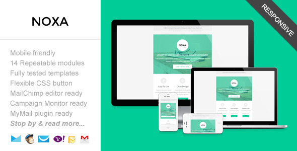 ThemeForest Noxa Responsive Minimalist Email Template 7688688