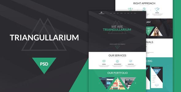 Triangullarium PSD Template - Creative PSD Templates