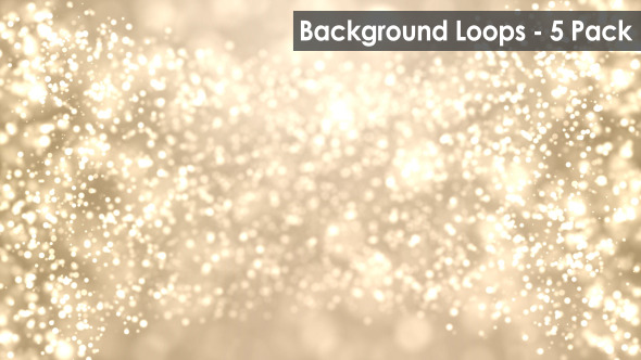 Particle Flow Motion Background 5 Pack