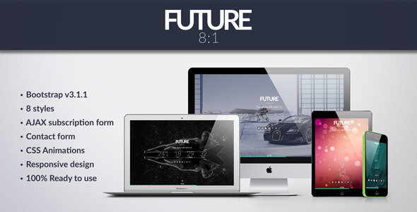 ThemeForest Future 8 in 1 Coming Soon Template 7600720