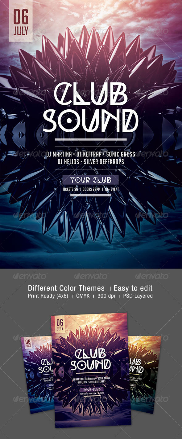 GraphicRiver Club Sound Flyer 7689334