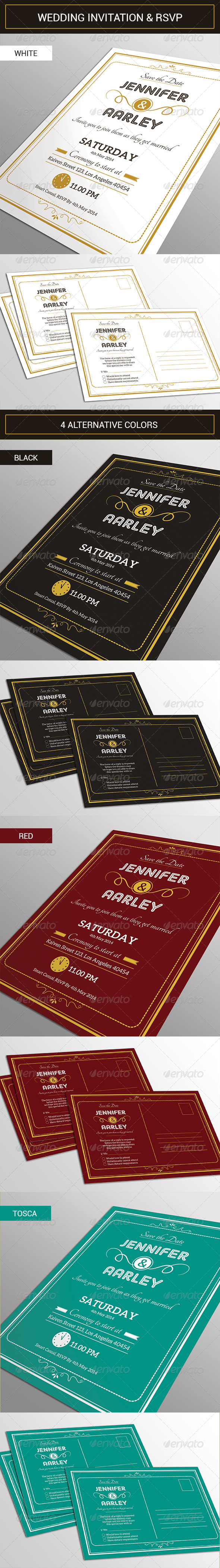 GraphicRiver Elegant Wedding Invitation & RSVP 7689358