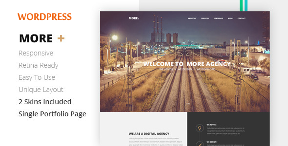 ThemeForest MORE Creative One Page Wordpress Theme 7639311