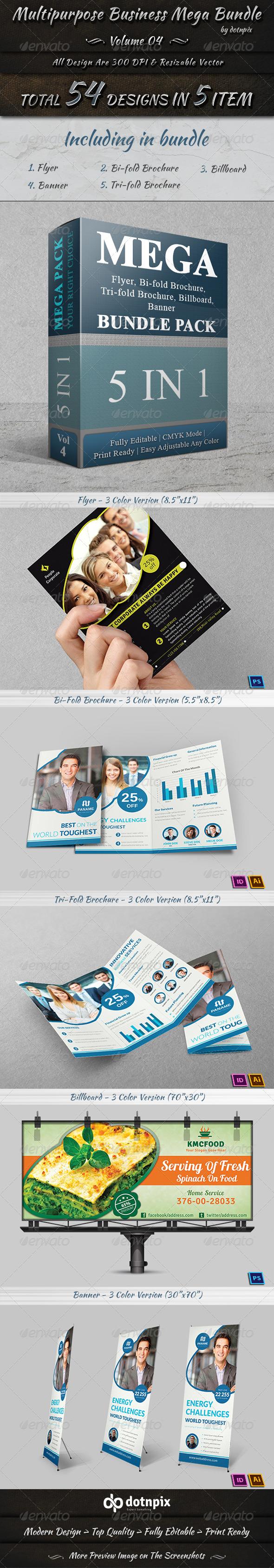 GraphicRiver Multipurpose Business Mega Bundle Volume 4 7689683