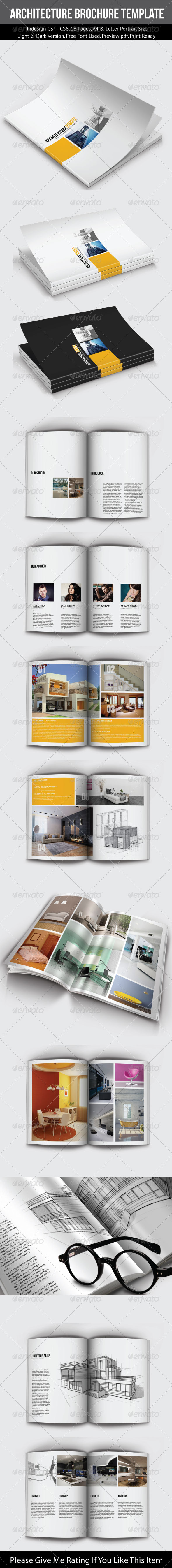GraphicRiver A4&Letter Portrait Architecture Brochure Template 7690161