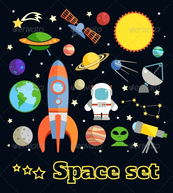 GraphicRiver Space Elements Set 7690191