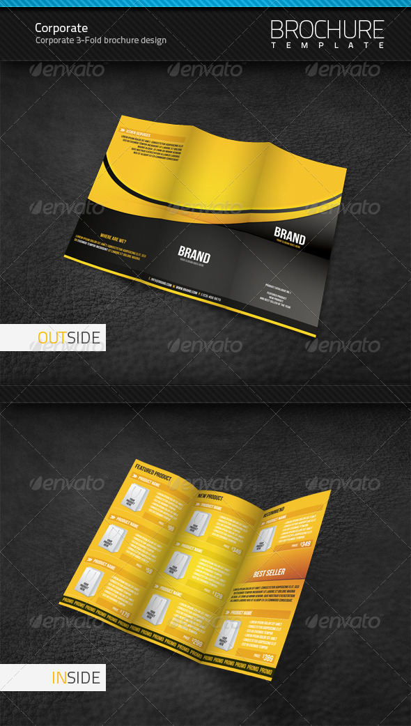 Corporate 3Fold Brochure Template GraphicRiver Item for Sale