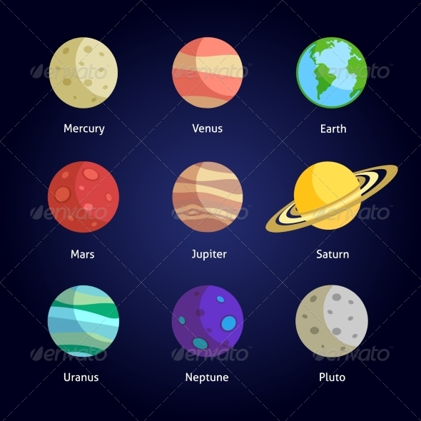 GraphicRiver Planets Decorative Set 7690195