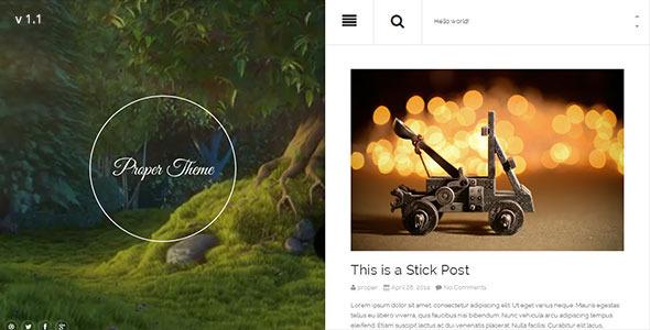 ThemeForest Proper Responsive WordPress Theme 7637263