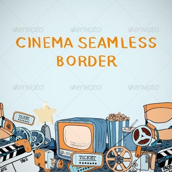 GraphicRiver Cinema Sketch Seamless Border 7690372