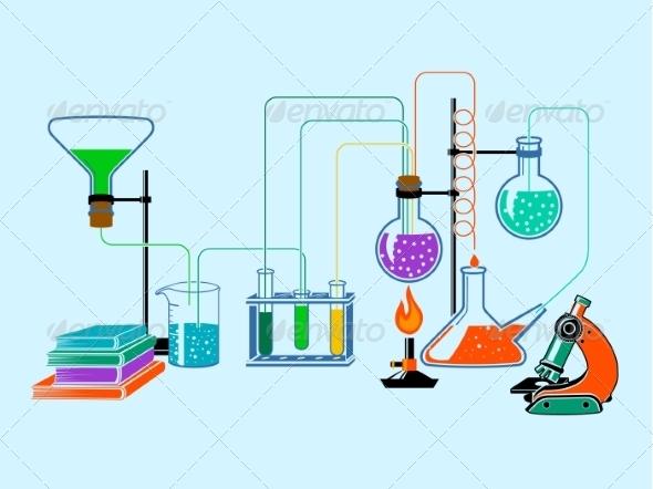 GraphicRiver Scientific Laboratory Flat Background 7690520