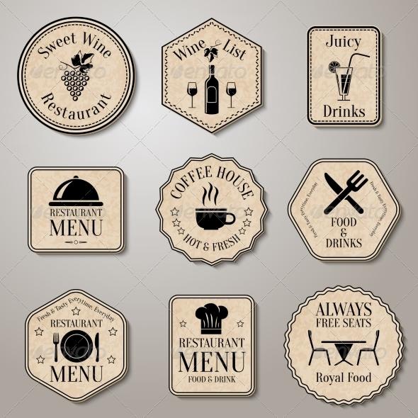 GraphicRiver Restaurant Menu Labels 7690570
