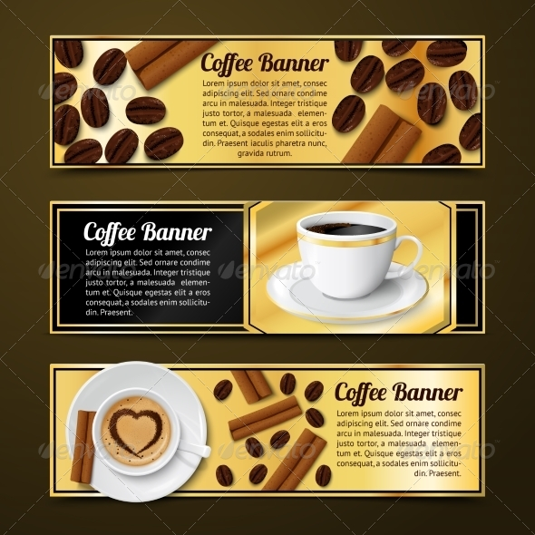 GraphicRiver Coffee Banners Horizontal 7690620