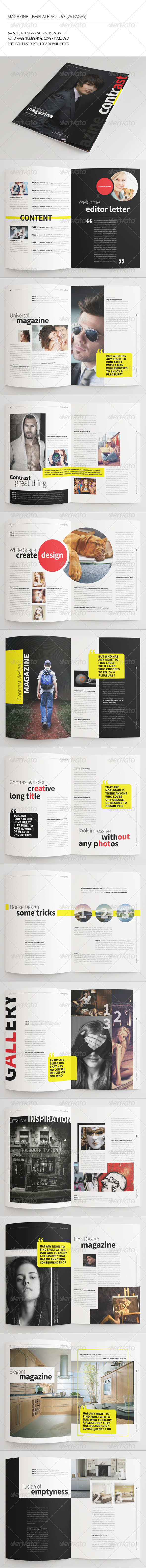GraphicRiver 25 Pages Contrast Magazine Vol53 7690706