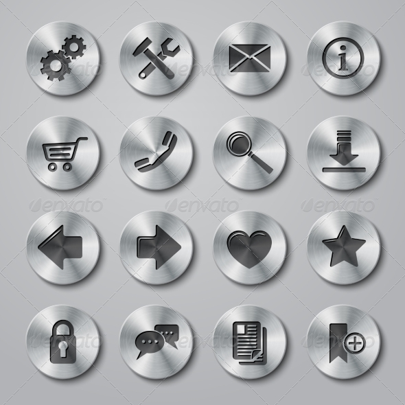 GraphicRiver Website Icons Metal 7690757