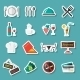 Restaurant Icons Stickers - GraphicRiver Item for Sale