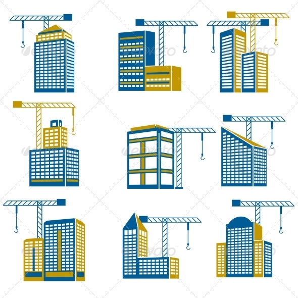GraphicRiver Building Construction Icons 7690768