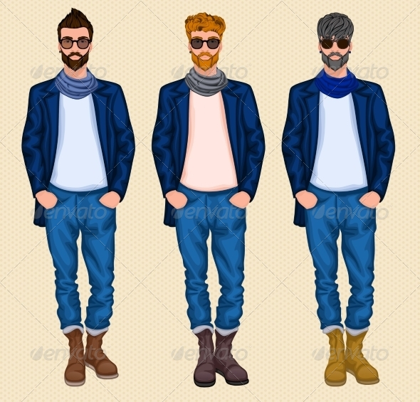 GraphicRiver Hipster Man Set 7690912