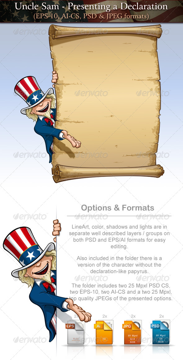 GraphicRiver Uncle Sam Presenting a Declaratio 7691084
