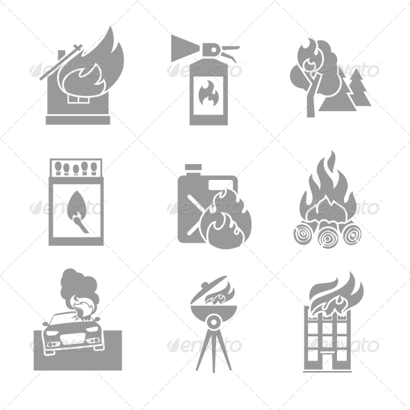 GraphicRiver Fire Protection Icons 7691100