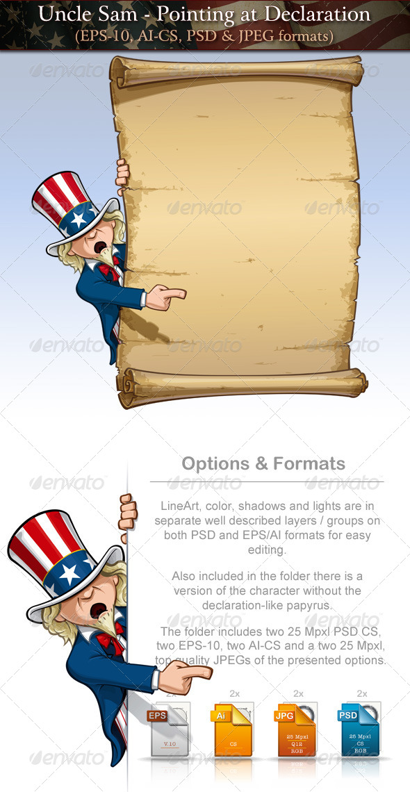 GraphicRiver Uncle Sam Pointing at Declaration 7691109