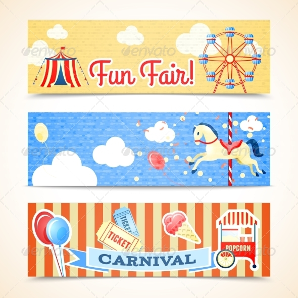 GraphicRiver Vintage Carnival Banners Horizontal 7691163
