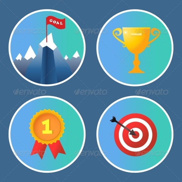 GraphicRiver Achievement Icons Set 7691212