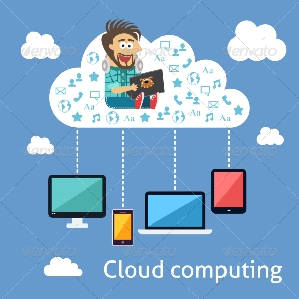 GraphicRiver Business Cloud Computing Concept 7691219