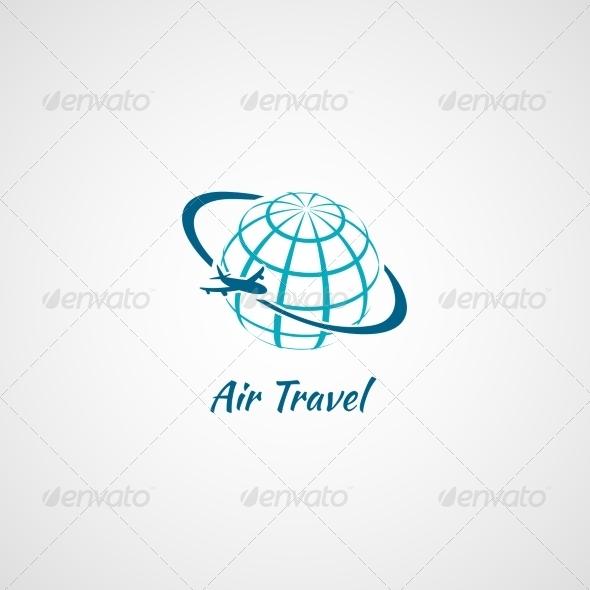 GraphicRiver Airplane Icon Globe 7691221