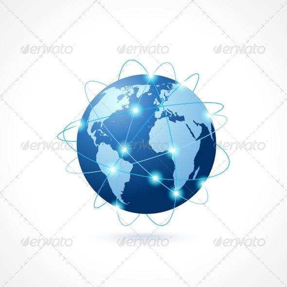 GraphicRiver Network Globe Icon 7691222