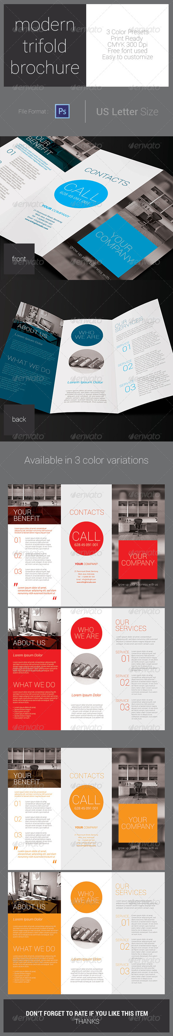 GraphicRiver Modern Trifold Brochure 7691583