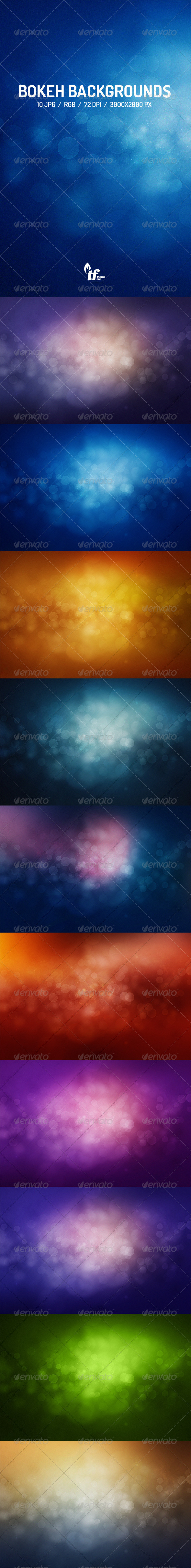 GraphicRiver Abstract Bokeh Backgrounds 7691639