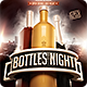 Bottles Night flyer Template - GraphicRiver Item for Sale