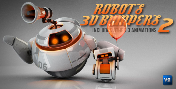 After Effects Project - VideoHive Robots 3D logo bumpers II 786701