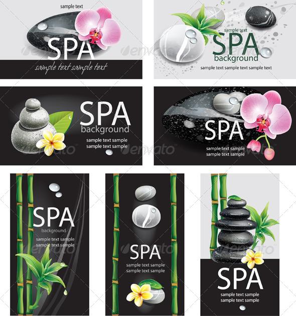 GraphicRiver Set of Cards for SPA Salon 7691754