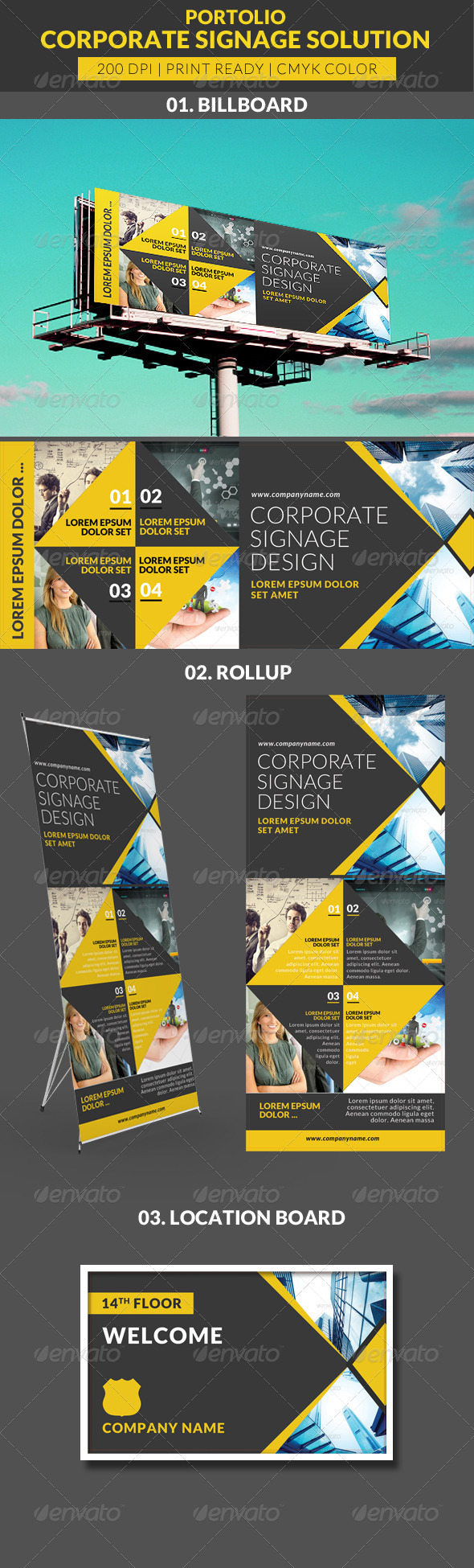 GraphicRiver Portolio Signage Solution Pack 7655777