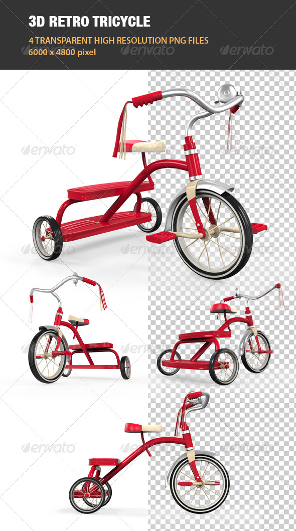 GraphicRiver 3D Retro Tricycle 7691845