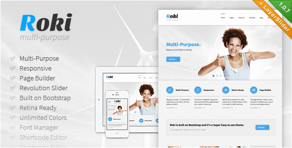 Roki - Multi-Purpose Responsive Theme - Business Corporate