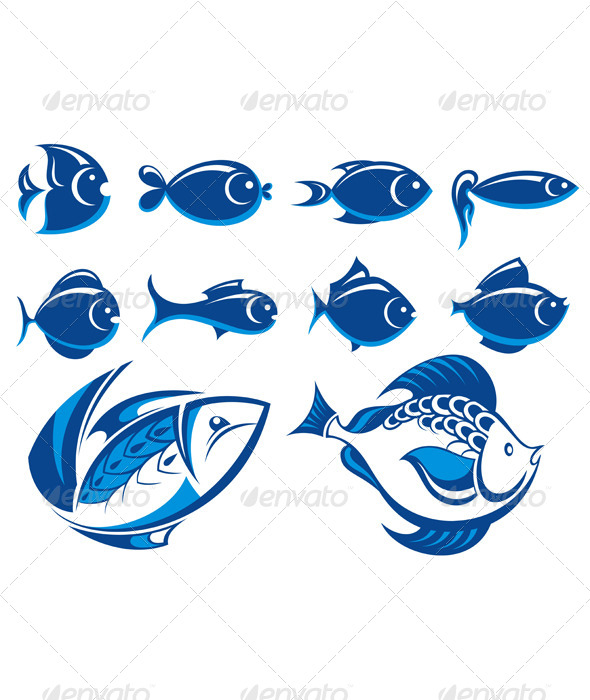 GraphicRiver Set of Fish Icons 7691872