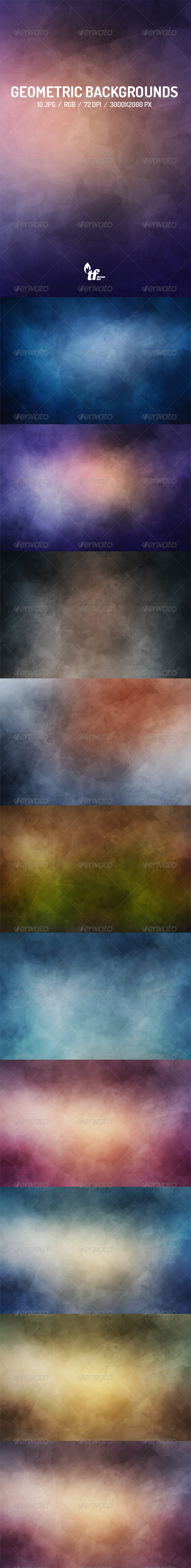 GraphicRiver Geometric Abstract Backgrounds 7691962