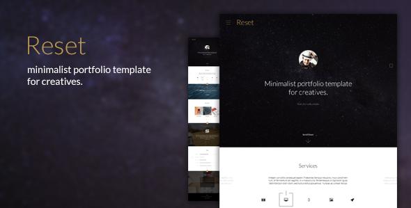 Reset Minimalistic Portfolio Theme