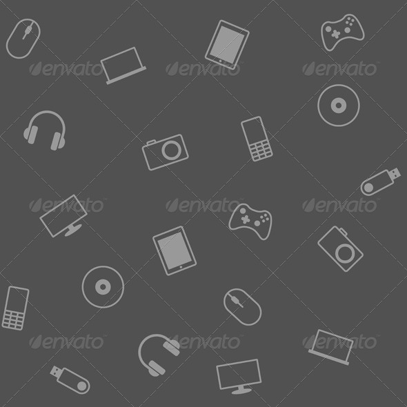 GraphicRiver Background with Electronic Devices 7692127