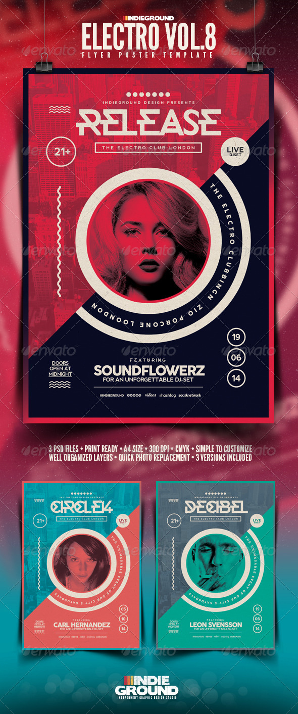 GraphicRiver Electro Flyer Poster Vol 8 7692282