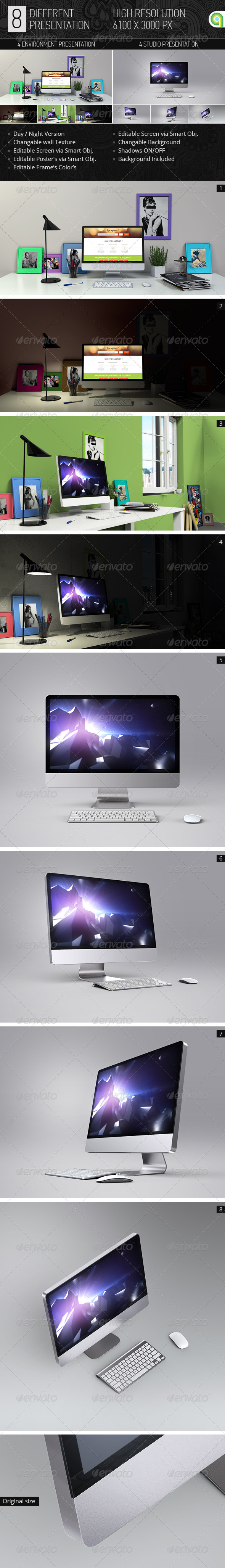 GraphicRiver Desktop & Screen Mock-up 7692287
