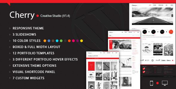 Cherry Portfolio WordPress Theme - Portfolio Creative